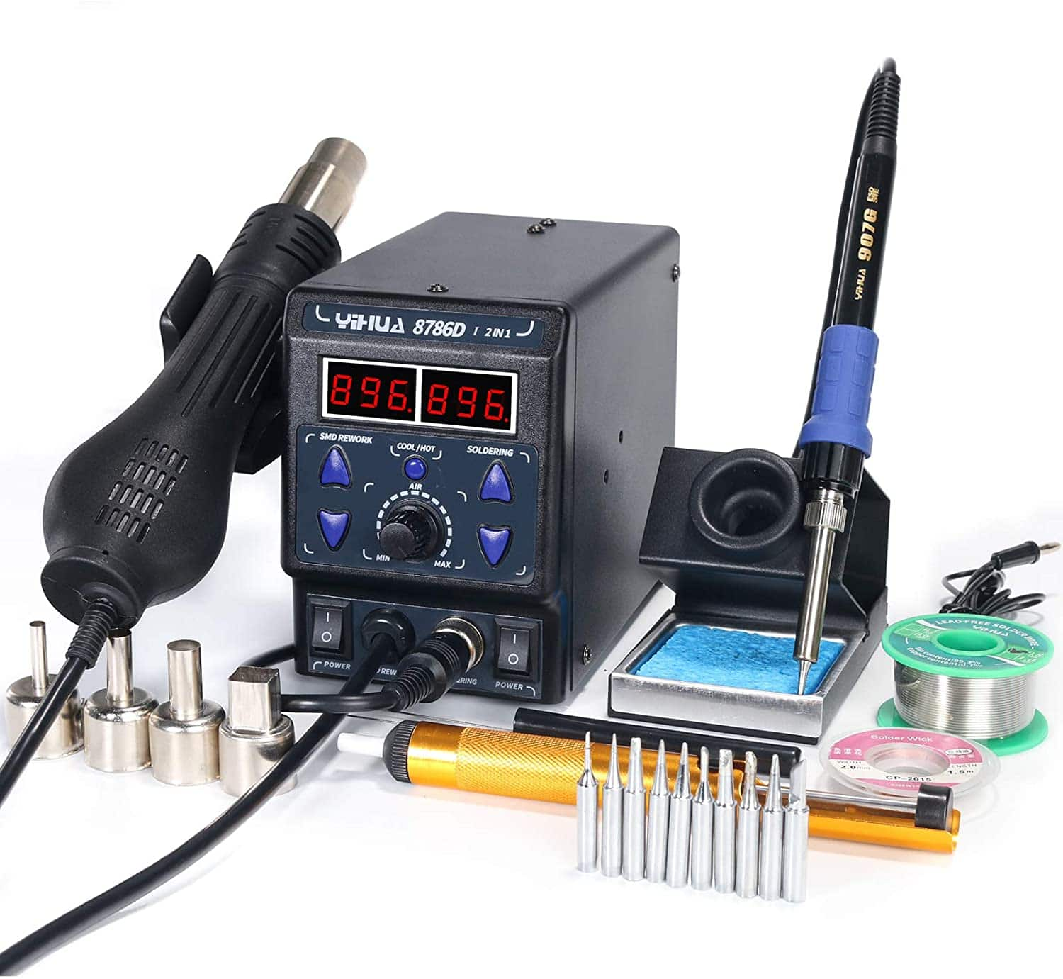 best hot air rework and soldering iron station