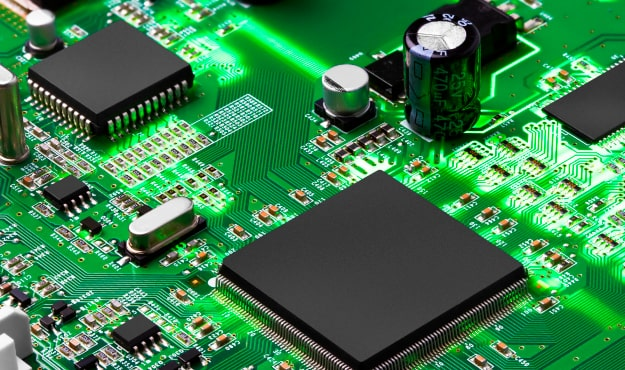 printed circuit board view by microscope