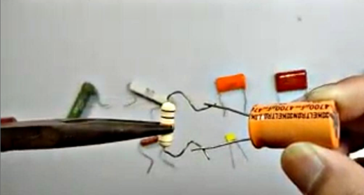 Discharging capacitor safely with a resistor